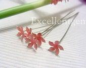 10 Earwire Silver Plated Enamel Flower Earwire