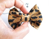 SALE Cute bow tie necklace Fabric bow pendant with Black Brass chain For Gift