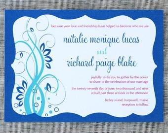 Seaside Elegance Wedding Invitation Suite