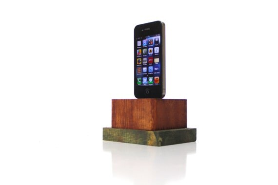 rustic, ipod, iphone, charging station, dock, wood, wooden, unique, ooak, re purposed, up cycled, handmade by tangleandfold
