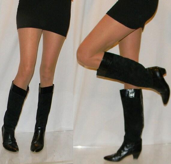 vintage 70s 80s boots sz 8.5 9 Italian designer riding boots Charles David