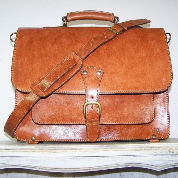 Reserved for Kitty Leather Messenger Bag 15 inches and 13 inches laptop bag Raphael XL in light brown