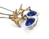 BIRDBATH unique bird jewelry unusual earrings bird earrings unusual jewelry earrings bird lover gift