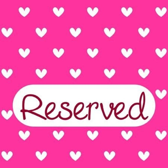 RESERVED LISTING FOR jessica elbach