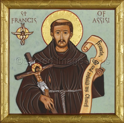 francis of assisi ready to frame print catholic