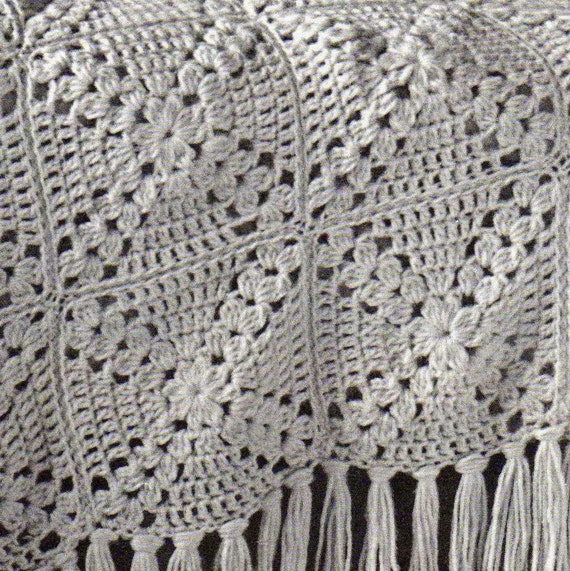 Free Crochet Granny Square Motifs : Vintage Granny Square Motif Afghan Crochet Pattern PDF Instant