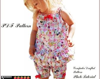 Chloe Tank Pillowcase TOP PATTERN  for Girls + Free Mother-Daughter Apron Pattern, Children's PDF Sewing Patterns, baby, toddler,  pdf