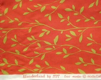 MoMo Wonderland Garden Party tomato red moda fabrics FQ or more