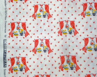 Happy Homemaker windows red Darlene Zimmerman Robert Kaufman fabric FQ or more