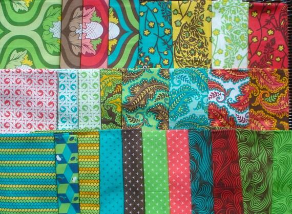 Tula Pink Nest 27 FQ set moda fabrics OOP HTF