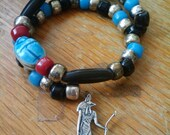 Anubis Prayer Charm Bracelet