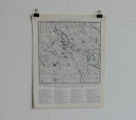 Vintage Map-City of Minneapolis-Early 20th Century