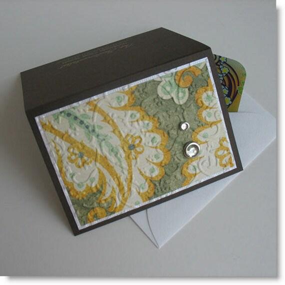 CLEARANCE Gift Card Holder: Blank & Handmade - Tapestry Rug