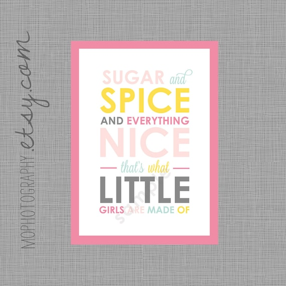 Sugar and Spice INVITE Modern Style for Birthday or Baby Shower - Digital Print File