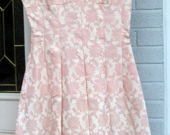 PINK Party Dress / Big Skirt / Cutouts at Neck / Be Pretty in Pink / Aden's Label / Dress with Shortie Jacket / PROM