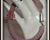 Bangle Style Bracelet with swarovski Crystals