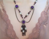 Medieval Necklace, medieval jewelry renaissance jewelry victorian jewelry edwardian jewelry art nouveau jewelry art deco tudor necklace