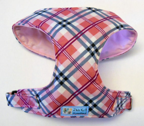 Comfort Soft Dog Harness. Plaid. - Made to Order -