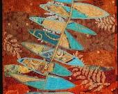 Handmade Art Quilt - Fossil Points