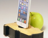 Docking station charger for ANY iPhone.. Free form design. One of a kind.  303. Reclaimed wood. Edgy. Contemporary.