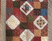 Quilt, Scrappy Patchwork ,  Minky Backing, Professionally Quilted