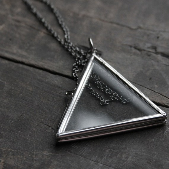 Mystic Sister Glass Triangle Necklace