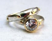 Engagement Ring, Wedding Ring, Sterling Silver Ring, anniversary gift , Boho Rings,  Unique Rings, 14k gold Rings Women, Lab Diamonds ring