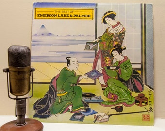 """ON SALE ELP (Emerson Lake & Palmer) Vinyl Record Album 1970s British Prog Rock """"The Best Of""""(Rare 1980 Columbia House Issue)"""