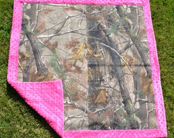 Camo Amp Light Blue Baby Blanket