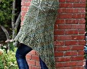 Green Lace Triangle Shawl