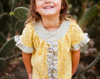 INSTANT DOWNLOAD- Bailey Dress (Sizes 12/18 months to Size 8) PDF Sewing Pattern and Tutorial