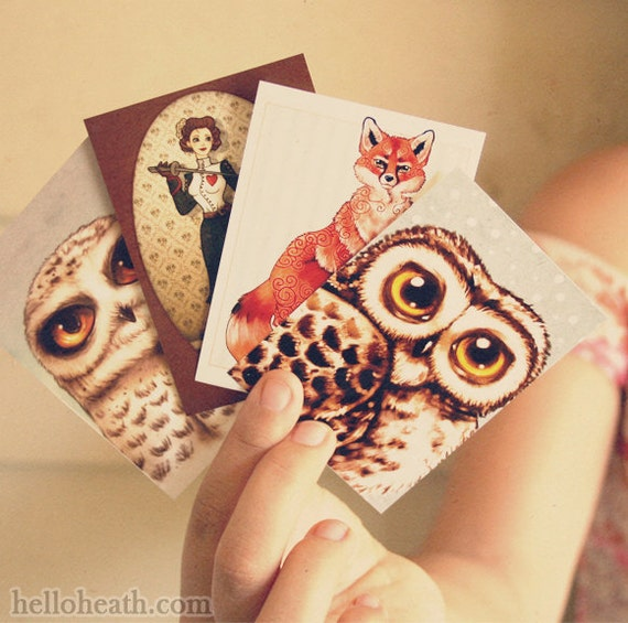 ACEO DISCOUNT 4 Pack Art Prints