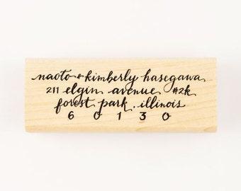 custom full calligraphy address stamp