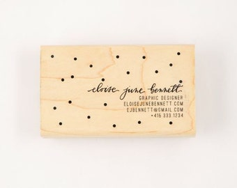custom dotty calligraphy business card stamp