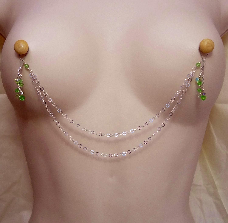 Big tits nipple rings