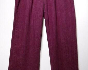 Vintage 1960s Pants - 60s Bell Bottoms - Purple Landlubber Pleats