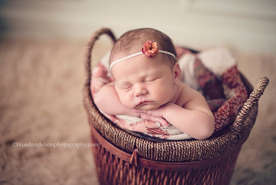 Orangey Pink Mini Flower Headband
