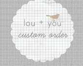 Burlap Growth Chart- reserved listing for nbosch