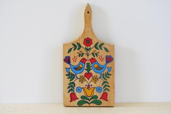 Vintage Folk Art Cutting Board