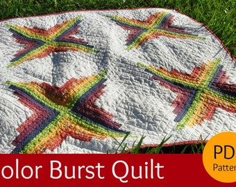 PATTERN for Color Burst Quilt (pdf)