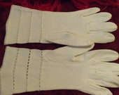 Vintage 50s White Gloves