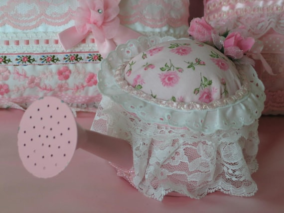 Vintage, Watering Can, Pin Cushion, Adorable and sooo Shabby Chic.