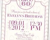 The Big 5-0, 6-0, 4-0 Milestone Modern Chevron Personalized Birthday Invitations - Adult Birthday - Printable Digital JPEG File