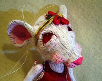 Albino Ballerina Rat Marionette