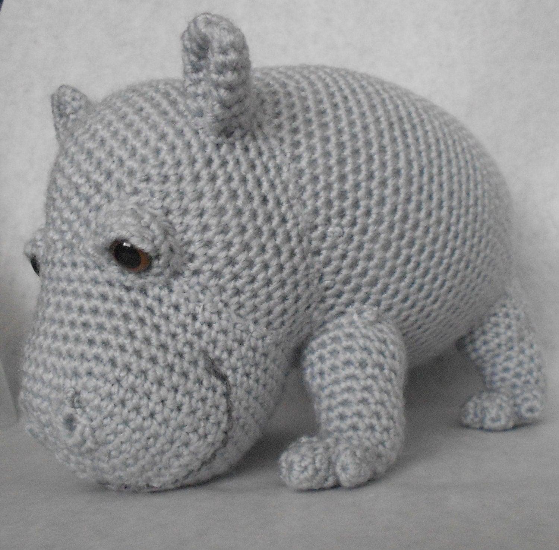 Amigurumi Hippopotamus : Hippo Amigurumi Crochet Pattern