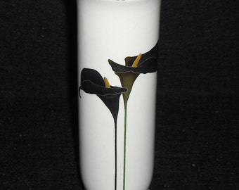 Vintage Otagiri Japan Golden Calla Lily Gold Silver Bud Vase Flower Retro Kitsch Home Decor Wedding Decoration Collection Collectible