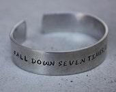 Japanese Proverb Quote Aluminum Bracelet