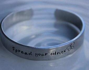 Spread Your Wings Aluminum Cuff Bracelet