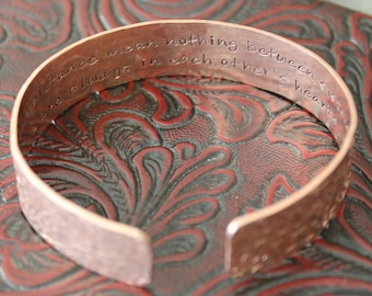 Sister Secret Message Copper Bracelet