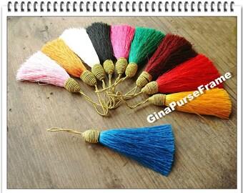 10pieces-Rainbow color Fringe/Macrame/spike/Tassel for purse making(purse bag metal frame)